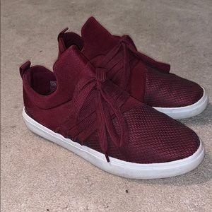 Maroon brash brand shoes